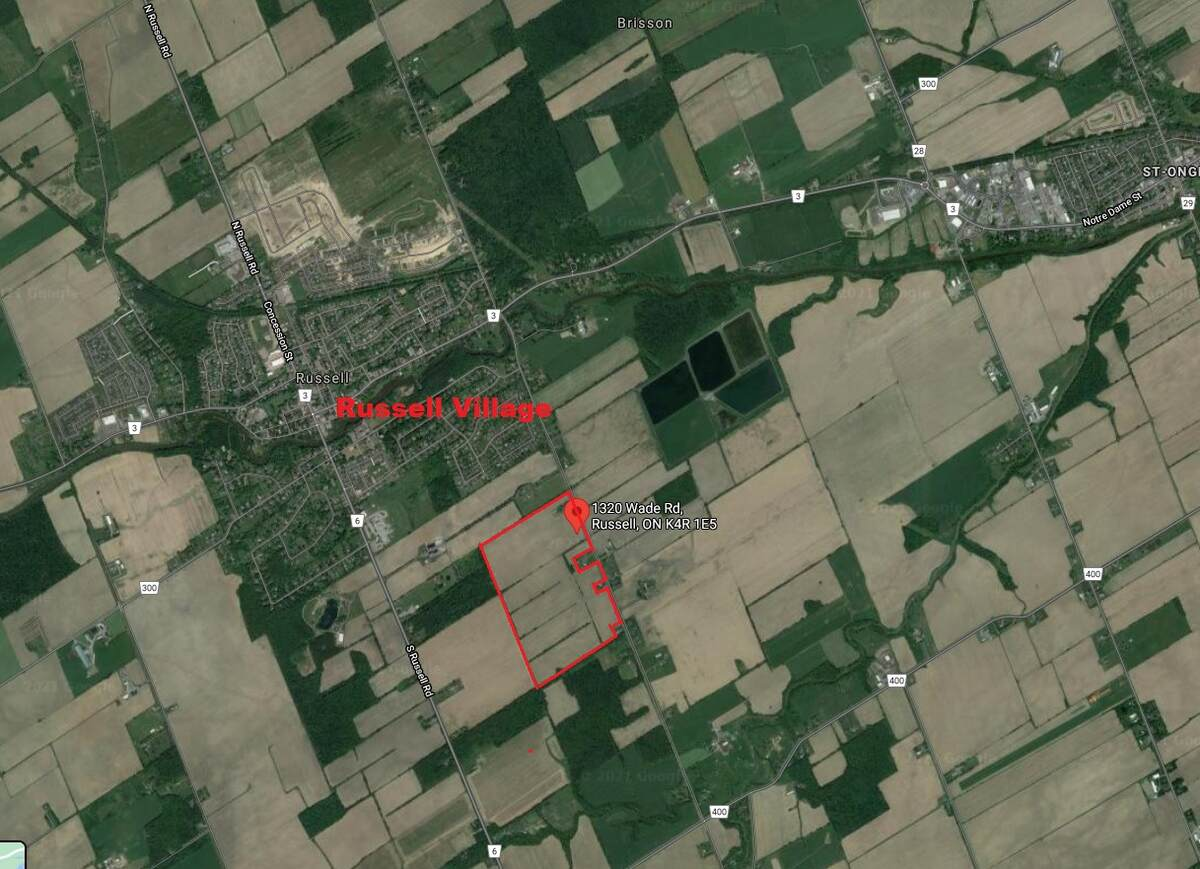 Acreage / Farm For Sale in Russell, ON