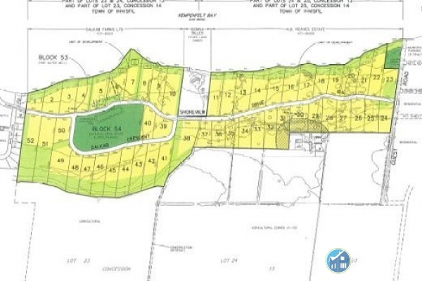 Waterfront Property / Acreage / Building Lot / Empty Lot For Sale in Innisfil, ON