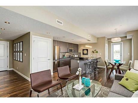 Condo / Apartment For Sale in Calgary, AB - 1+1 bdrm, 1.5 bath (414, 1110 3 Avenue NW)