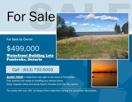 Waterfront Property / Building Lot For Sale in Pembroke, ON - 0 bdrm, 0 bath (Mountainview Drive)