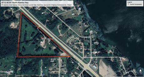 Land with Building(s) / Acreage / Building Lot / Commercial Space / Land For Sale in Fort St. John, BC - 3 bdrm, 2 bath (8712 Highway 97 North)