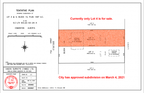 Building Lot / Empty Lot For Sale in Edmonton, AB - 0 bdrm, 0 bath (12811-71 Street)